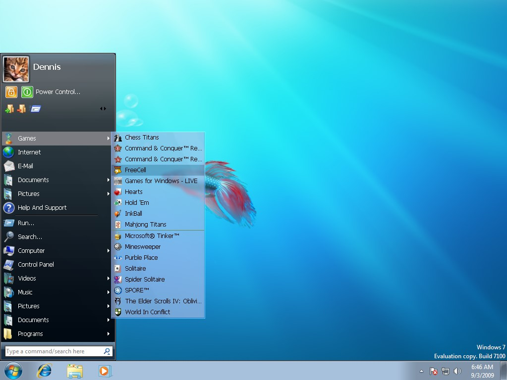 windows 7 Classic Start Menu